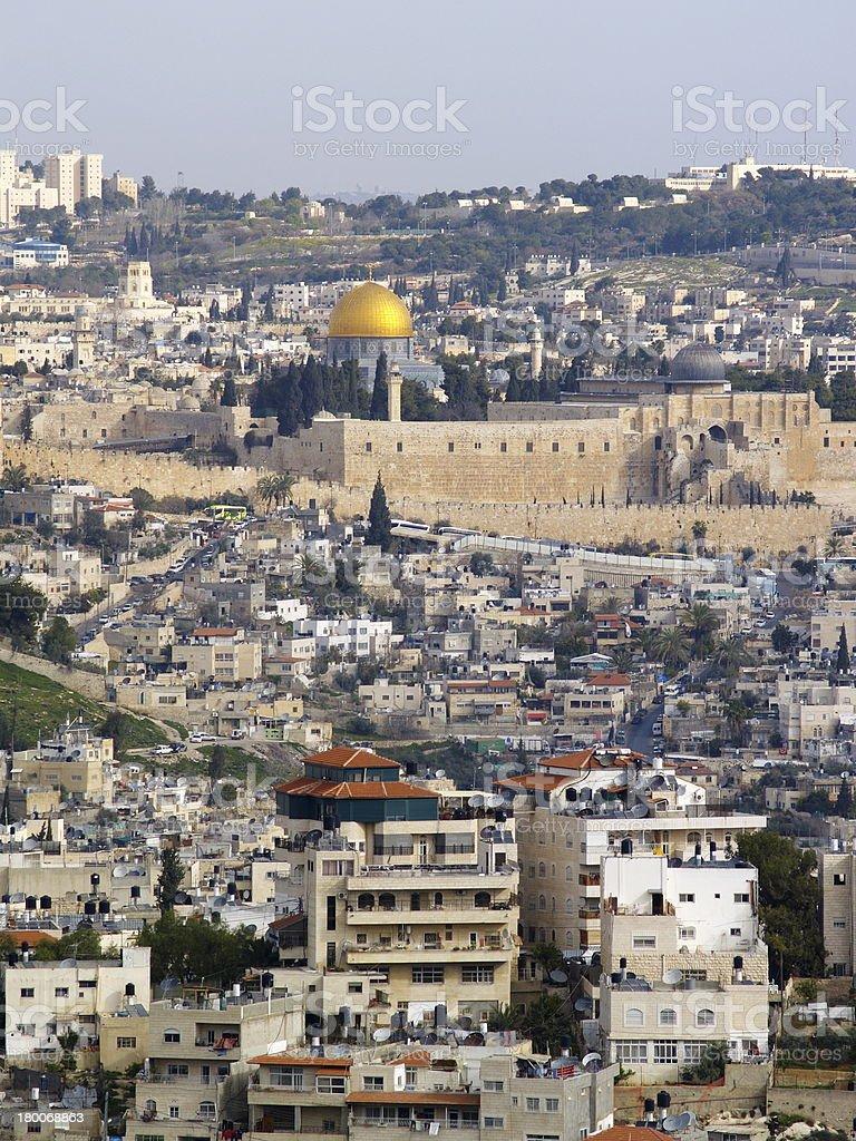 Jerusalem Cityscape royalty-free stock photo