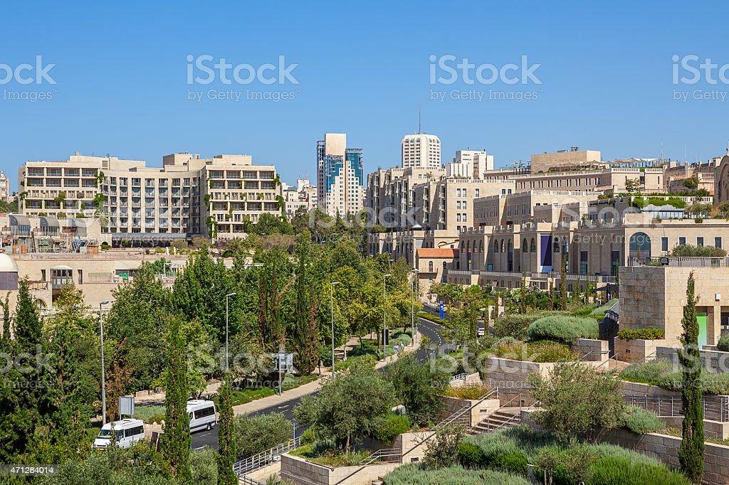 Jerusalem cityscape view. stock photo