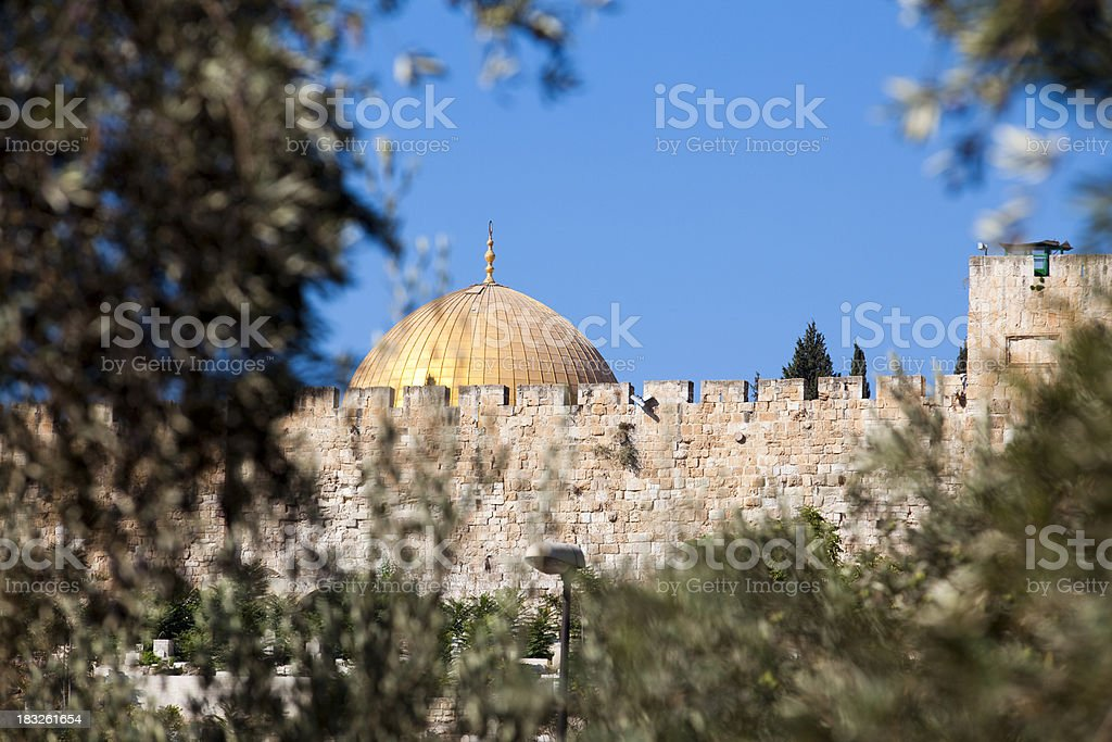 Jerusalem, Dome of the Rock royalty-free stock photo