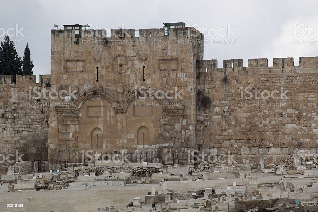 Jerusalem East Gate, sealed stock photo
