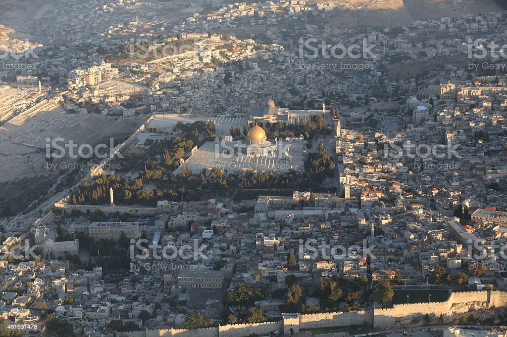 Jerusalem from the air stock photo