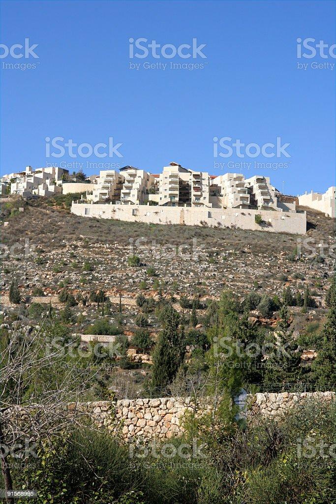 Jerusalem hilltop apartments royalty-free stock photo