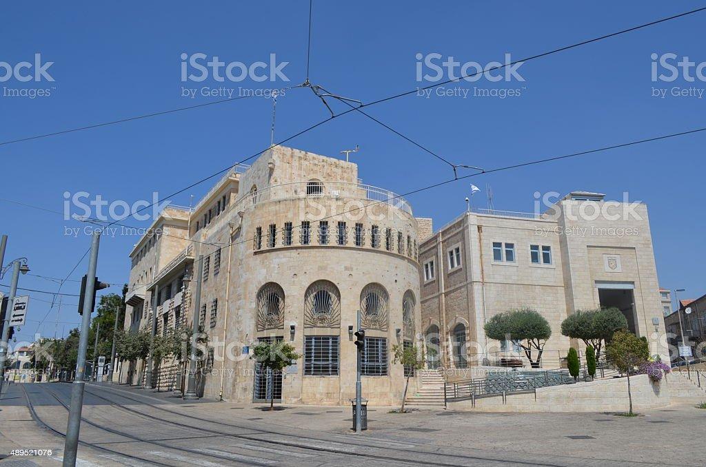 Jerusalem Historical City Hall - No people stock photo