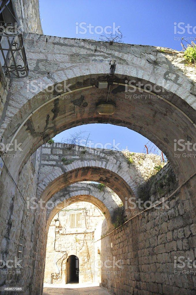 Jerusalem, Israel: arches on Saint James Street stock photo
