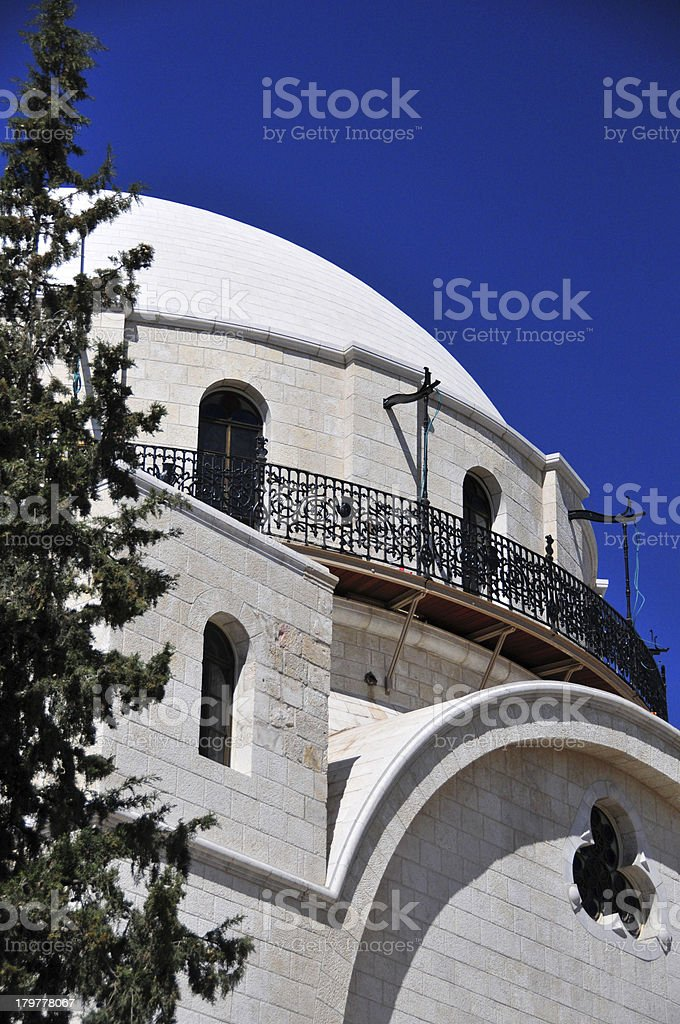 Jerusalem, Israel: dome of the Hurva Synagogue stock photo