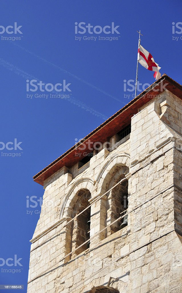 Jerusalem, Israel: Holy Sepulcher Church bell tower stock photo