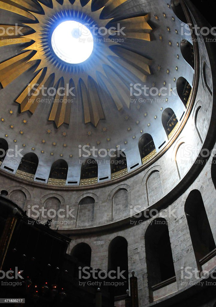 Jerusalem, Israel: Holy Sepulcher Church, ray of light stock photo