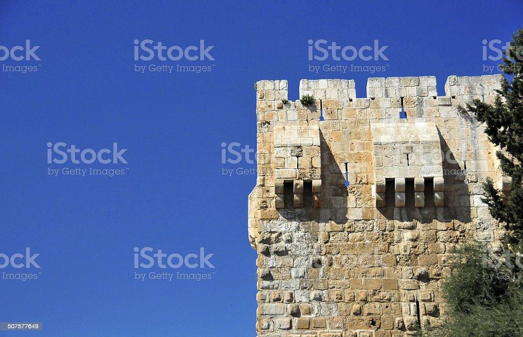 Jerusalem, Israel: tower on the city walls stock photo