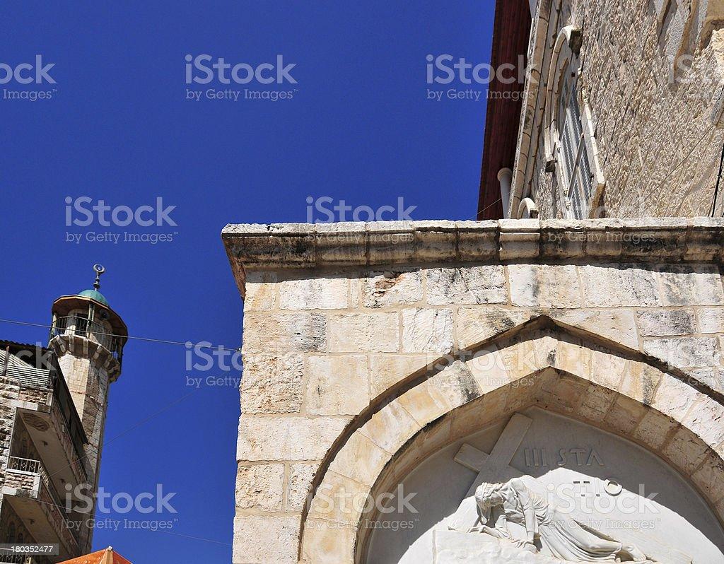 Jerusalem, Israel: Via Dolorosa, Armenian-Polish Catholic Chapel, third station royalty-free stock photo