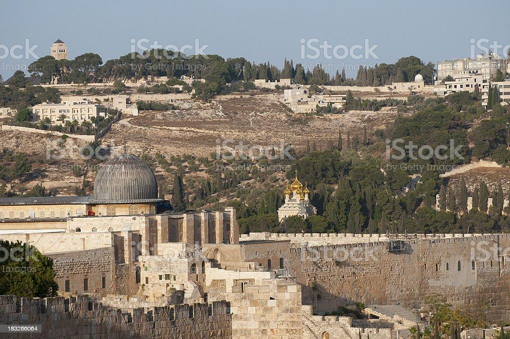 Jerusalem landmarks stock photo