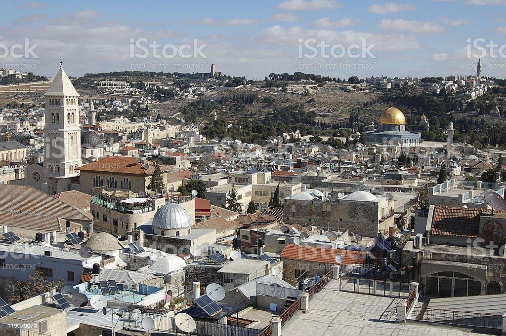 Jerusalem Landscape royalty-free stock photo