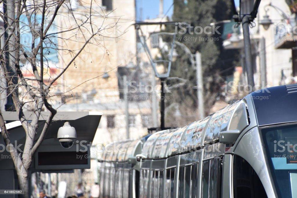 Jerusalem Light Train stock photo