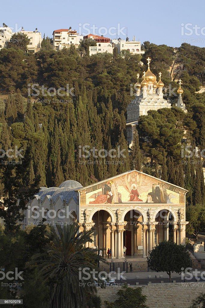 Jerusalem - Mount of Olives churches stock photo