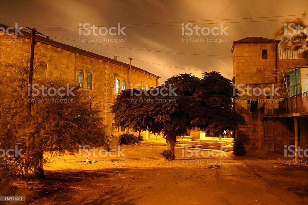 Jerusalem neigbourhood stock photo