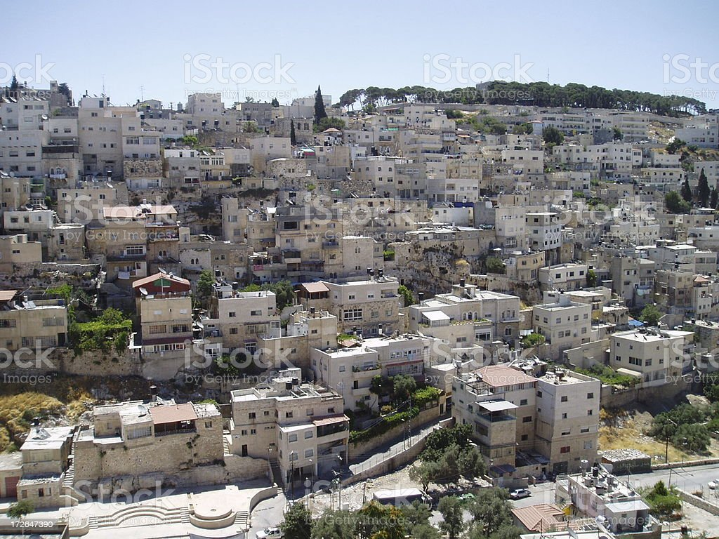 Jerusalem Neighborhood royalty-free stock photo