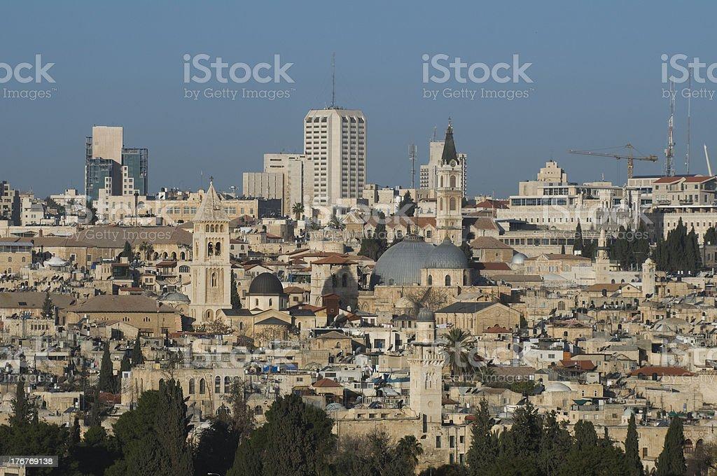 jerusalem old and new city scape royalty-free stock photo
