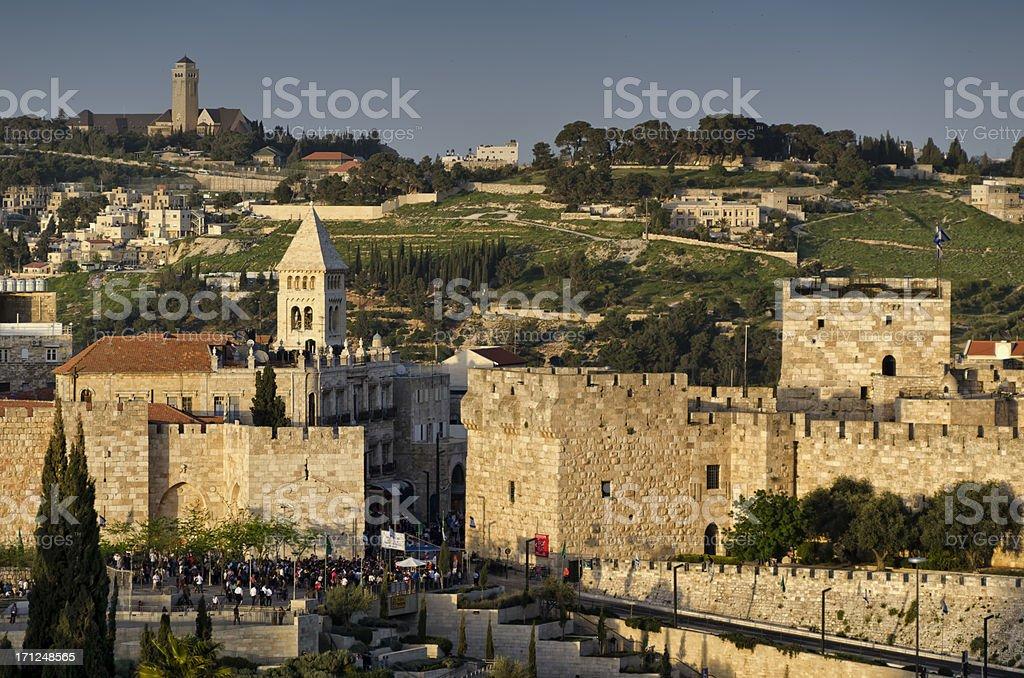 Jerusalem Old City at Sunset royalty-free stock photo