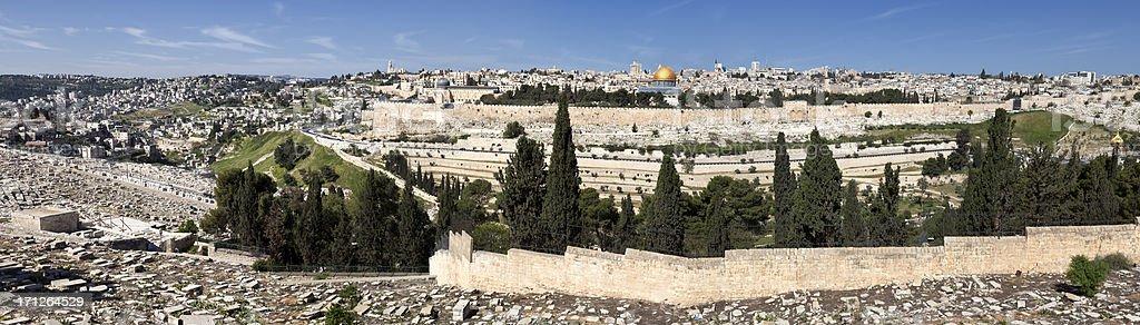 Jerusalem Old City Panorama stock photo