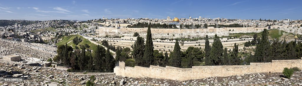 Jerusalem Old City Panorama stock photo