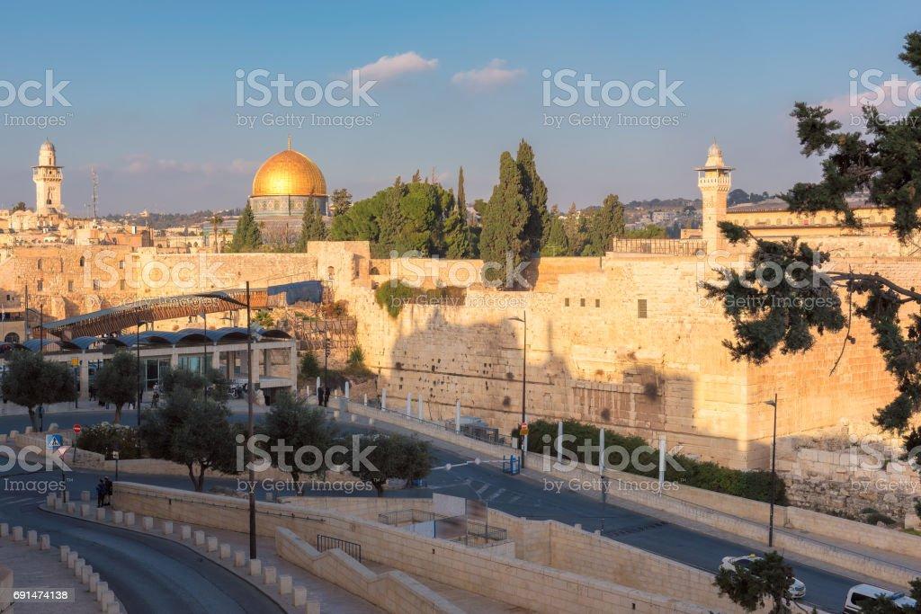 Jerusalem Old City skyline, Israel. stock photo