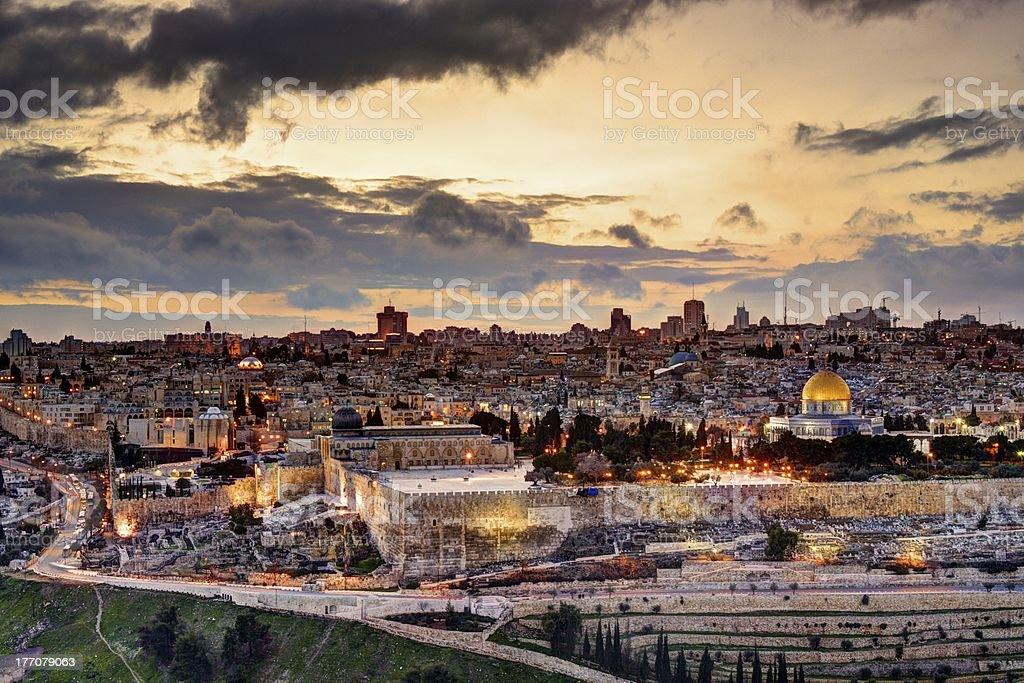 Jerusalem Old City Skyline royalty-free stock photo