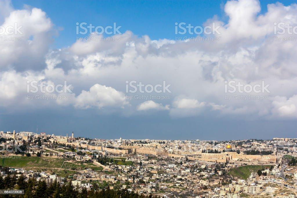 Jerusalem Old City - The Holy Land stock photo