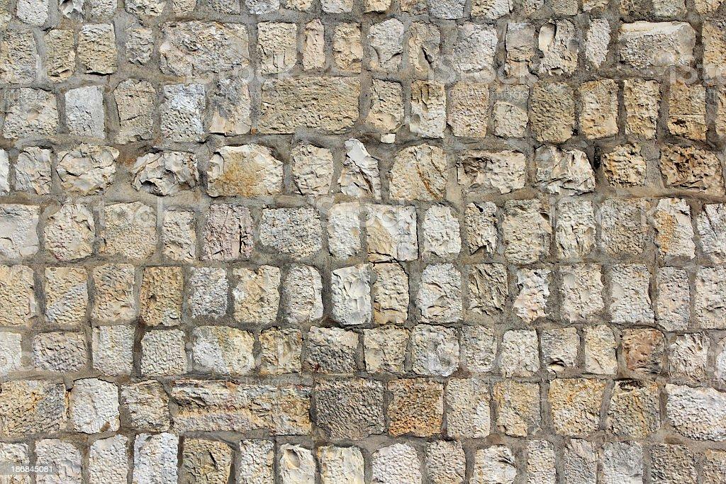 Jerusalem Old City wall detail royalty-free stock photo