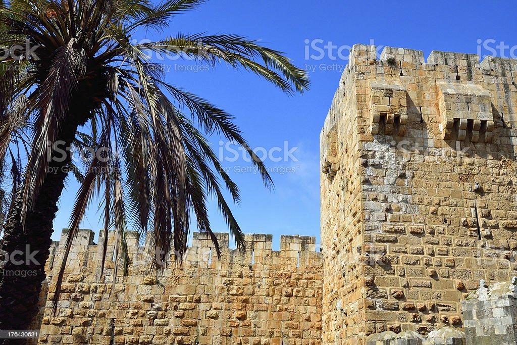 Jerusalem old city wall royalty-free stock photo