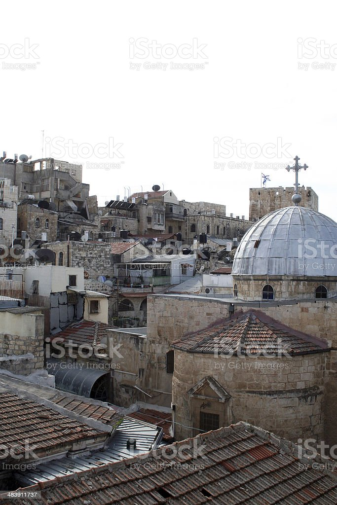 Jerusalem old town houses. royalty-free stock photo