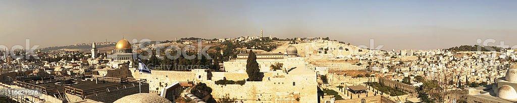 Jerusalem panorama royalty-free stock photo