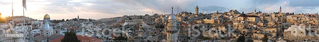 Jerusalem Panoramic stock photo