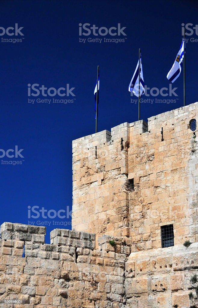 Jerusalem, Phazael Tower stock photo