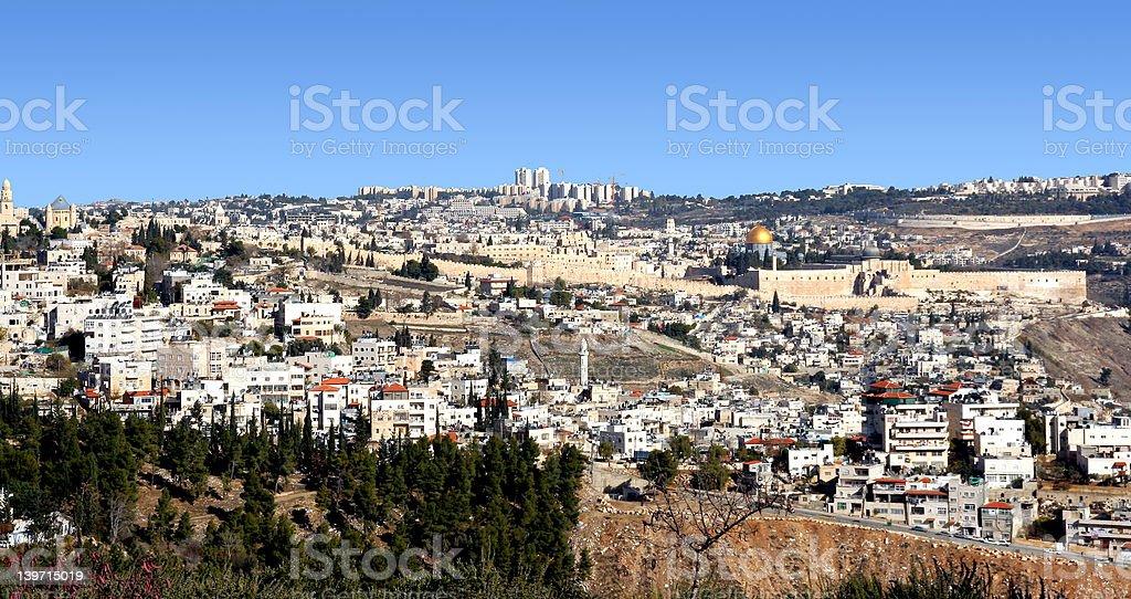 Jerusalem Skyline royalty-free stock photo