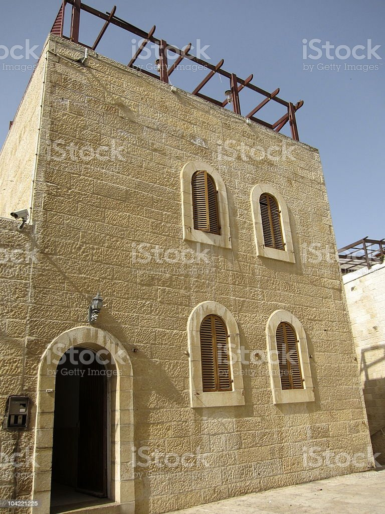 Jerusalem stone apartment royalty-free stock photo