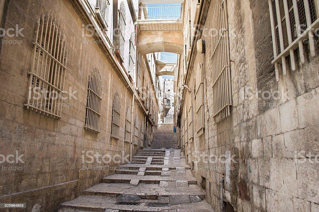 Jerusalem Street stock photo