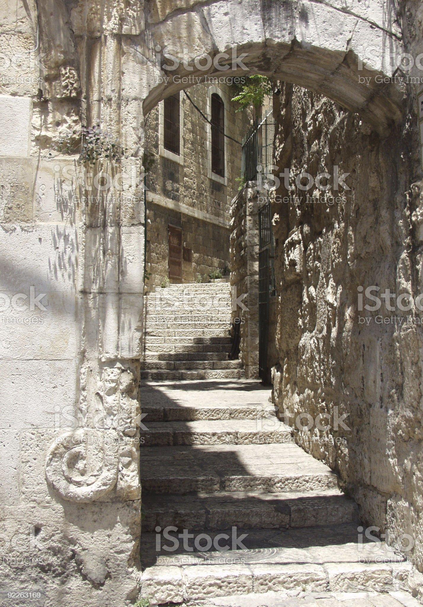 Jerusalem street royalty-free stock photo