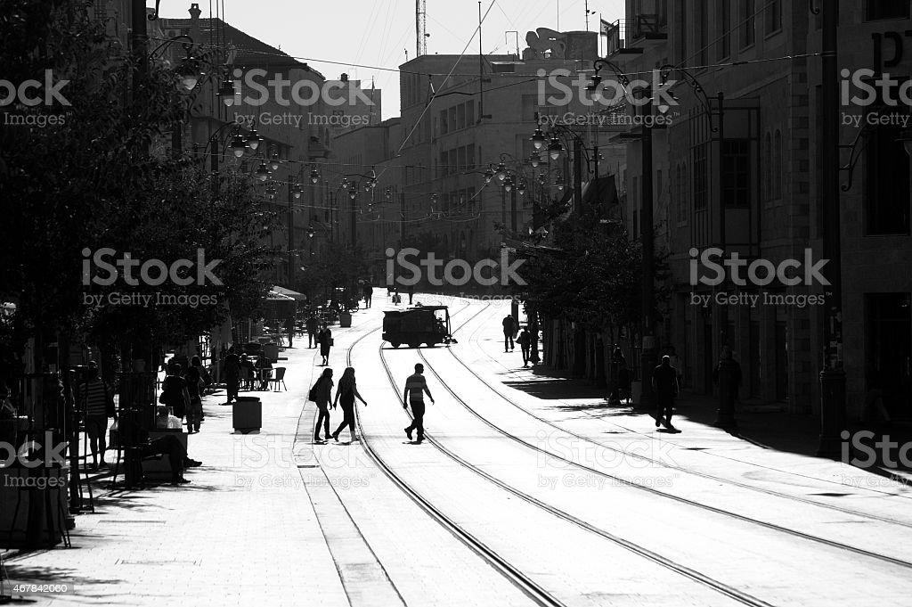 Jerusalem, Street Scene stock photo