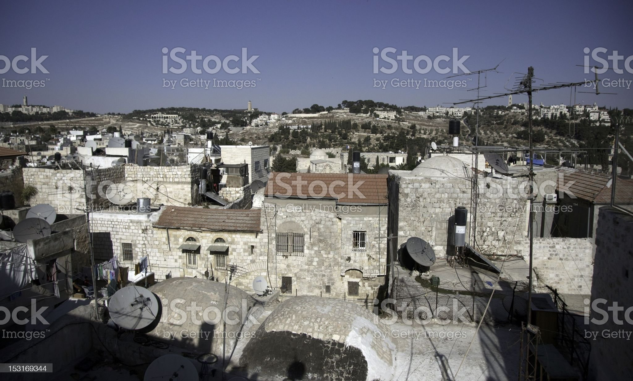 Jerusalem street travel on holy land royalty-free stock photo