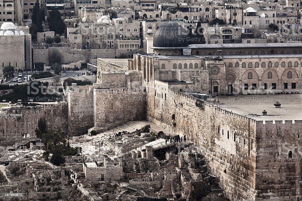 Jerusalem Temple Mount royalty-free stock photo