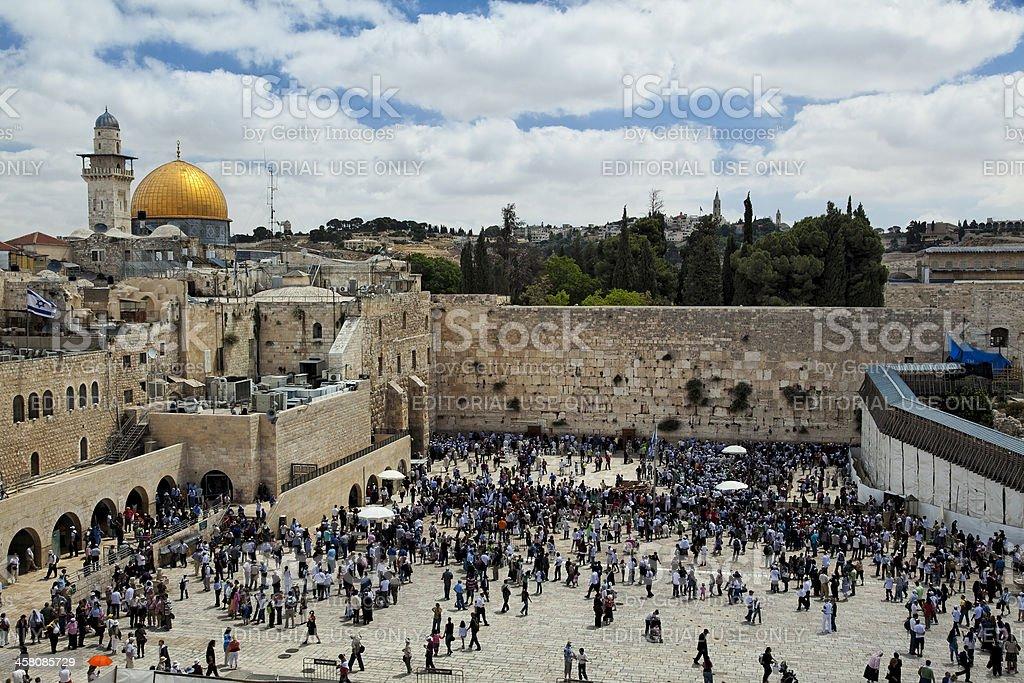Jerusalem Temple Mount View royalty-free stock photo