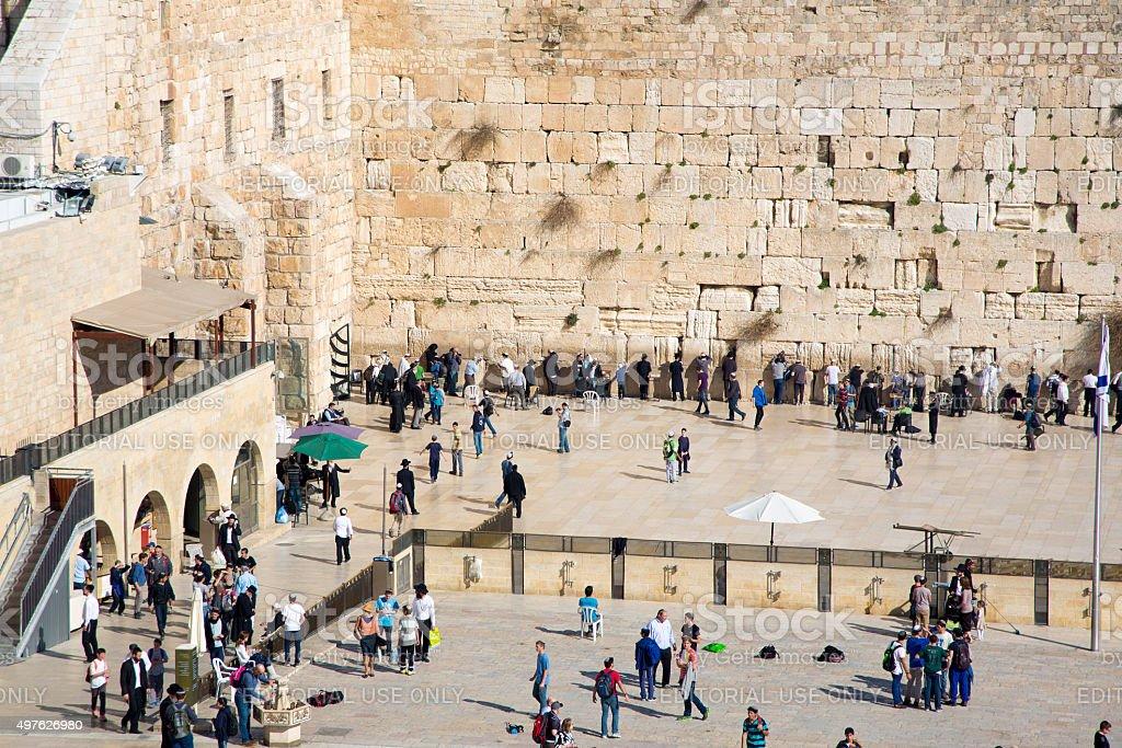 Jerusalem Temple Mount View stock photo