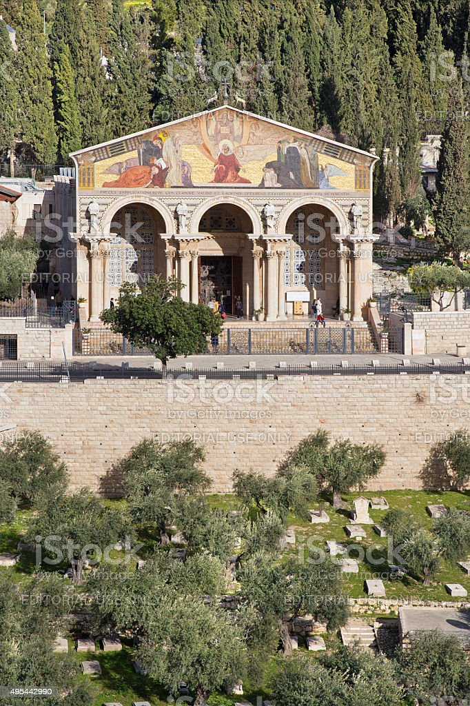 Jerusalem - The Church of All Nations stock photo