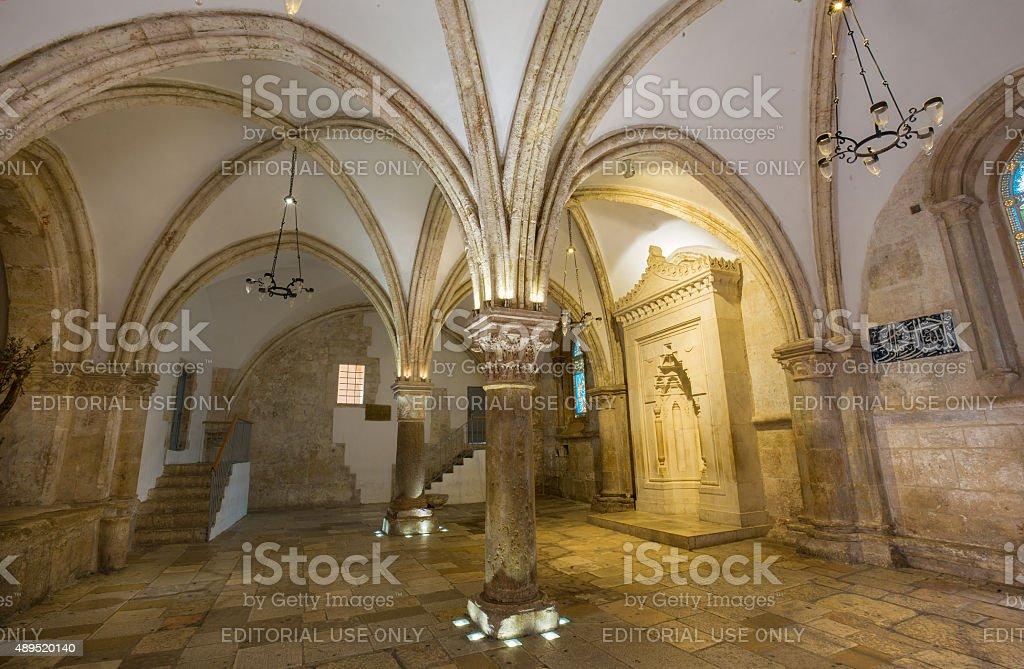 Jerusalem - The Coenaculum ( Last Supper hall). stock photo