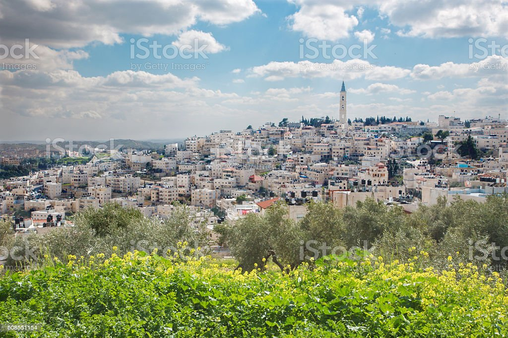 Jerusalem - The Russian orthodox church of Ascension stock photo
