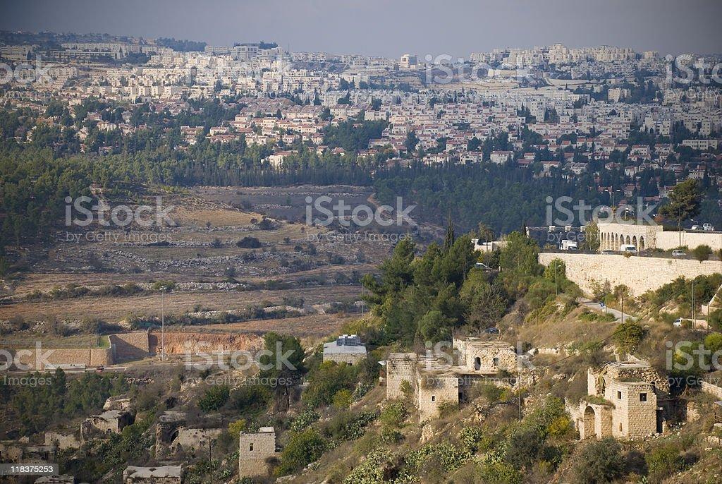 Jerusalem Then and Now - abandoned Palestinian village of Lifta royalty-free stock photo