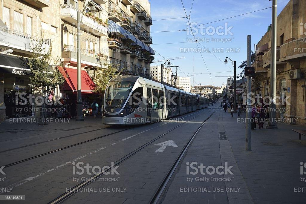Jerusalem tram royalty-free stock photo