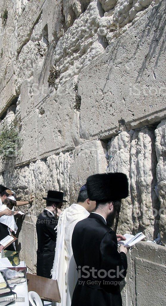Jerusalem wailing wall royalty-free stock photo