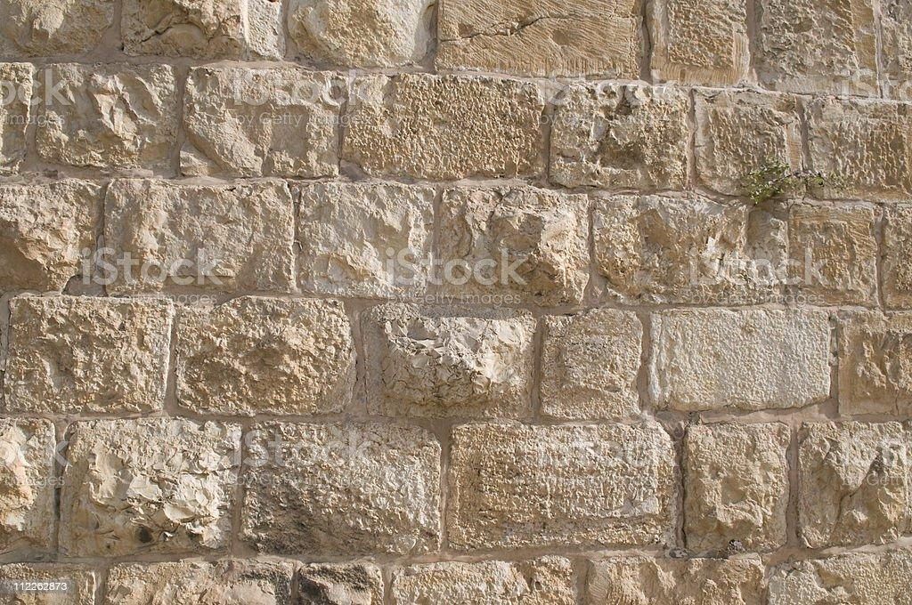 Jerusalem Wall Background stock photo