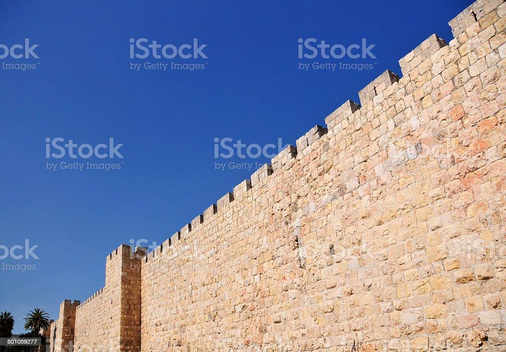 Jerusalem walls stock photo