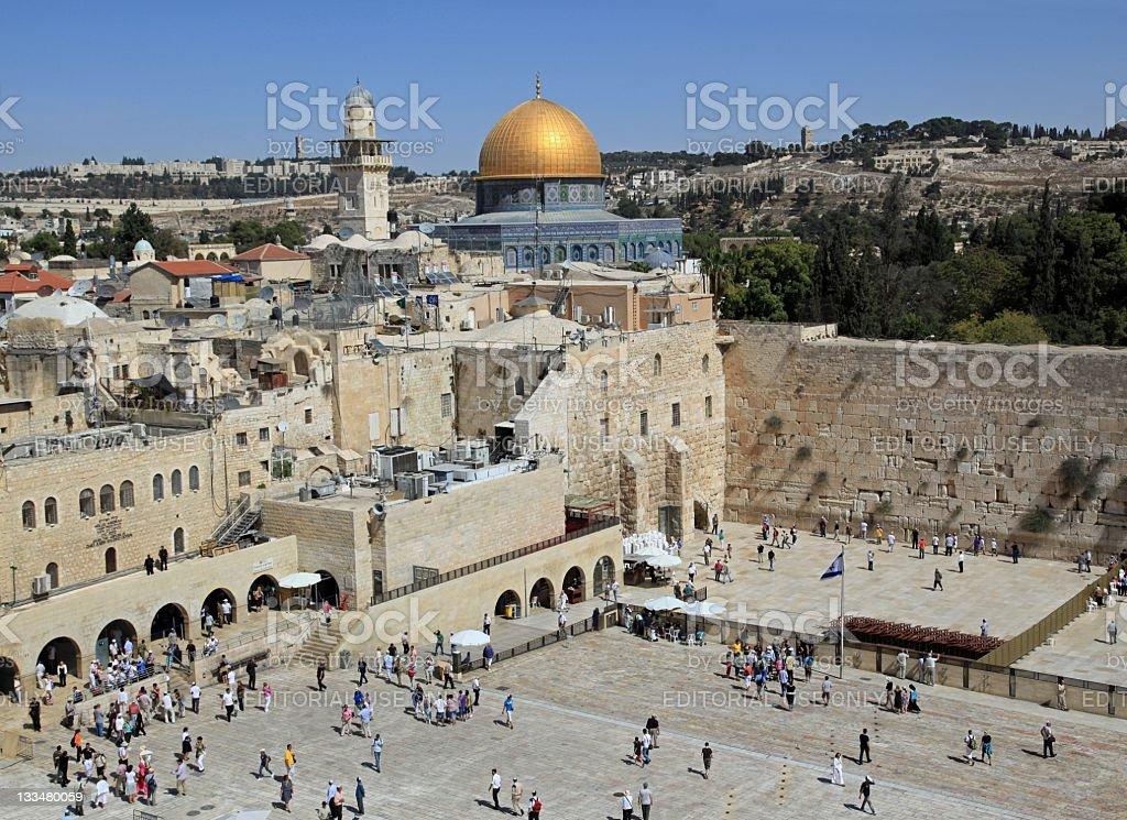 Jerusalem, Western Wall Plaza stock photo